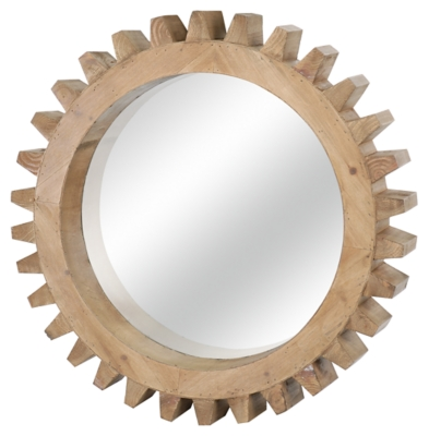 Ashley Accents Gear Shaped Mirror Home