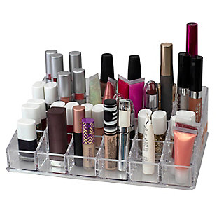 Home Accents 24 Compartment Transparent Plastic Cosmetic Makeup and Nail Polish Storage Organizer Holder, , rollover