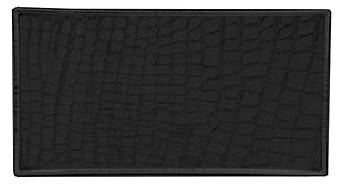 Home Accents Crocodile Plastic Vanity Tray, Black, large