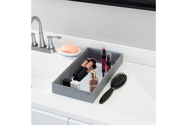 Home Accents Decorative Vanity Tray with Mirror, , large