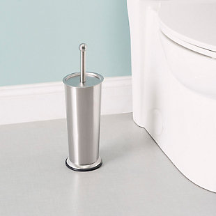 Home Accents Brushed Stainless Steel Tapered Toilet Brush, , rollover