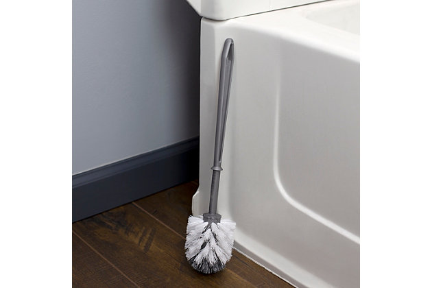 Home Accents Plastic Toilet Brush, Silver, large