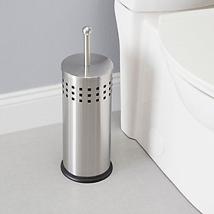 Home Accents Brushed Stainless Steel Toilet Plunger, , rollover