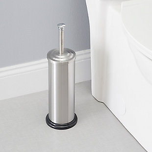 Home Accents Brushed Stainless Steel Toilet Brush with Holder, , rollover