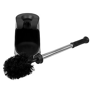Home Accents Toilet Brush Holder with Comfort Grip Handle with Easy to Store Compact Non-Skid Caddy, , large