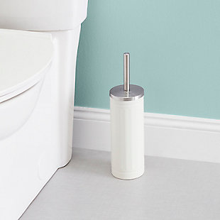 Home Accents Embossed Ivory Steel Toilet Brush, , rollover