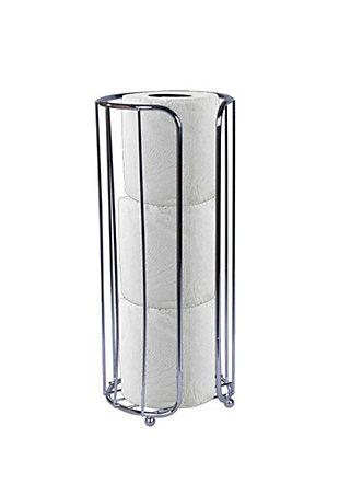 Home Accents Chrome Plated Steel Bath Tissue Reserve, , large