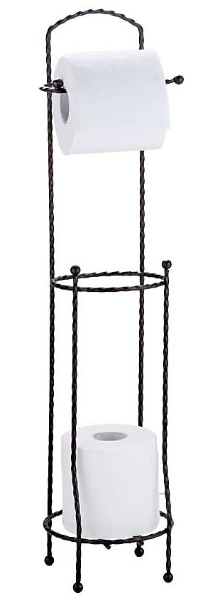 Home Accents Free-Standing Dispensing Toilet Paper Holder, , rollover