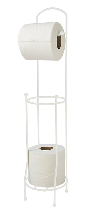 Home Accents Free-Standing Vinyl Coated Steel Dispensing Toilet Paper Holder, , large
