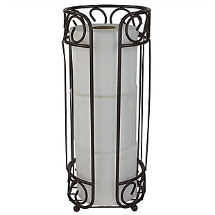 Home Accents Scroll Collection Bath Tissue Reserve Toilet Paper Roll Holder Stand, , large