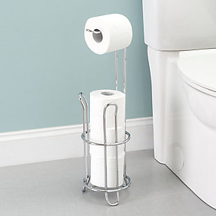 Home Accents Heavy Duty Chrome Plated Steel Toilet Paper Holder, , large