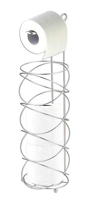 Home Accents Modern Swirl Freestanding Dispensing Toilet Paper Holder, , large