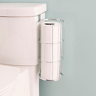 Home Accents Chrome Plated Steel Over the Tank Toilet Paper Holder, , rollover