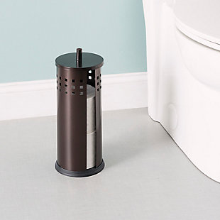 Home Accents Vented Steel Bath Tissue Reserve with Lid, , rollover