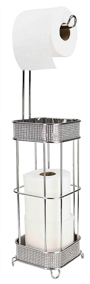 Home Accents Diamond Collection Free-Standing Dispensing Toilet Paper Holder, , large