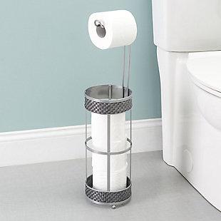 Home Accents Basket Weave Toilet Paper Dispenser, , rollover