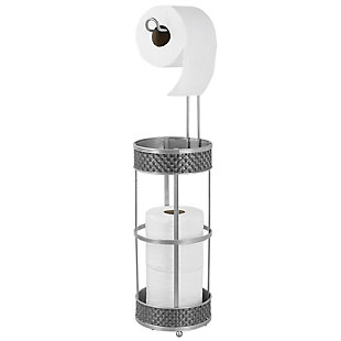 Home Accents Basket Weave Toilet Paper Dispenser, , large