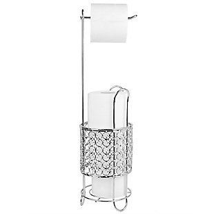 Home Accents Free Standing Dispensing Toilet Paper Holder, , large