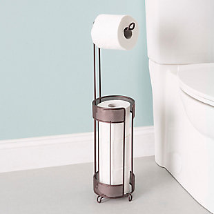 Home Accents Metropolitan Collection Steel Toilet Paper Holder, , rollover