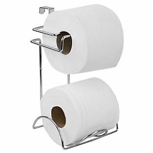 Home Accents Chrome Plated Steel Over the Tank Toilet Paper Holder, , large