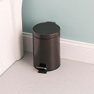 Home Accents 3 Liter Steel Step Waste Bin, , rollover