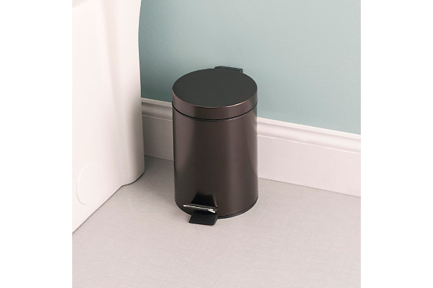 Home Accents 3 Liter Steel Step Waste Bin, , large