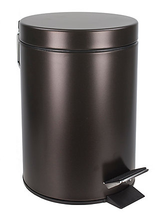 Home Accents 3 Liter Steel Step Waste Bin, , large