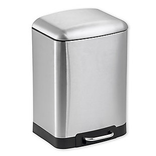 Home Accents 6 Liter Soft-Close Waste Bin, , large