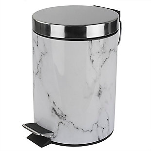 Home Accents Faux Marble 3 Liter Waste Bin, , large