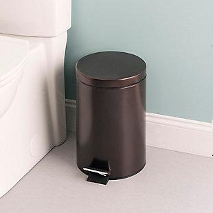 Home Accents 12 Liter Round Waste Bin, , rollover