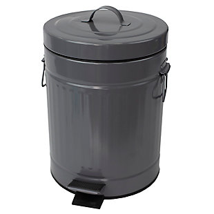 Home Accents Oscar 5 LT Step Stainless Steel Waste Bin, , large