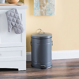Home Accents Oscar 20 LT Step Stainless Steel Waste Bin, , rollover