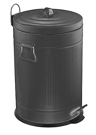 Home Accents Oscar 20 LT Step Stainless Steel Waste Bin, , large
