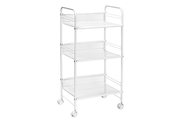 Honey-Can-Do 3-Shelf Rolling Wire Cart, , large