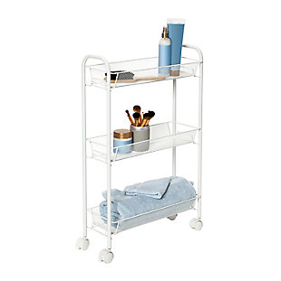 Honey-Can-Do Slim Rolling Wire Cart with 3 Baskets, , large