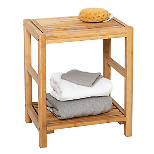 Honey-Can-Do Bamboo Spa Storage Bench, , rollover
