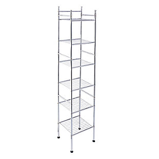 Honey-Can-Do 6-Tier Bathroom Storage Shelving Unit, , large