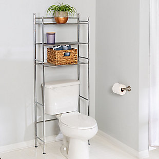 Honey-Can-Do 3-Tier Over-The-Toilet Shelving Unit, , rollover