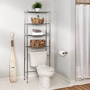 Honey-Can-Do 4-Tier Over-The-Toilet Shelving Unit, , rollover