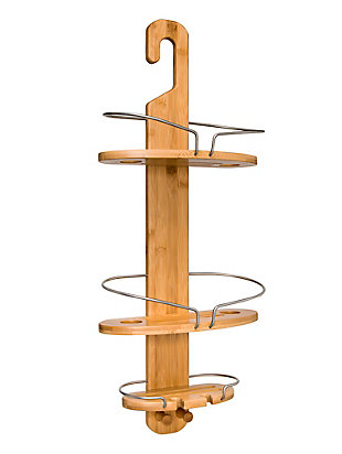 Honey-Can-Do Bamboo Shower Caddy, , large