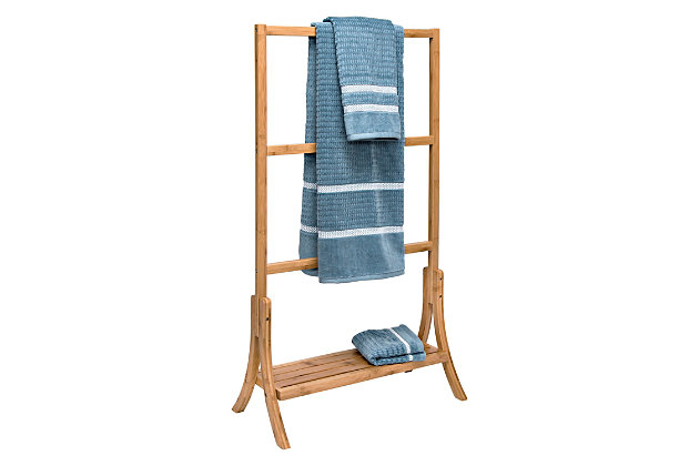 Honey-Can-Do Bamboo Towel Rail, , large