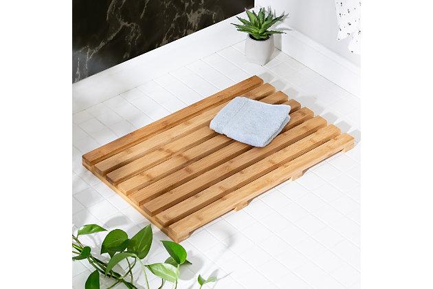 Honey-Can-Do Bamboo Bath Mat, , large