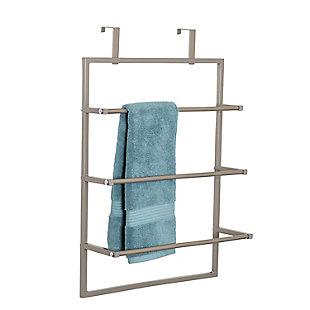 Honey-Can-Do 3-Tier Over-The-Door Steel Bathroom Towel Rack, , large