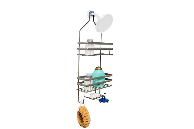 Honey-Can-Do Flat Wire Steel Shower Caddy, , large