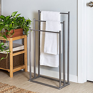 Honey-Can-Do 3-Tier Steel Bathroom Towel Rack, , rollover