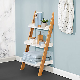 Honey-Can-Do 3-Tier Leaning Bathroom Ladder Shelf, , rollover