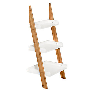 Honey-Can-Do 3-Tier Leaning Bathroom Ladder Shelf, , large