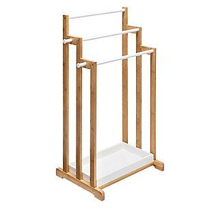 Honey-Can-Do 3-Tier Bamboo Bathroom Towel Rack, , large