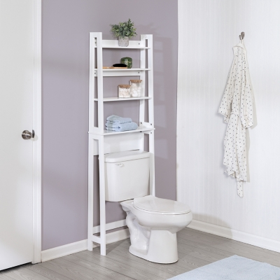 Honey-Can-Do Over-The-Toilet Bathroom Shelving Space Saver, , large