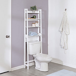 Honey-Can-Do Over-The-Toilet Bathroom Shelving Space Saver, , rollover
